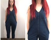 Sale Vintage Calvin Klein Overalls / Medium Wash Denim Overalls / 80's One Piece / Jumper  / Blue Jeans / Xsmall Small