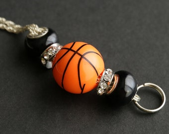 Basketball Lanyard. Badge Lanyard Basketball Mom Lanyard. Basketball Coach Lanyard. Badge Necklace. Beaded Lanyard. Badge Holder.