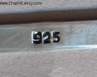 925 Hallmark STAMP Jewelry Design 1mm x 3mm Steel Punch with Bend Marking Metal Jewelry Making 925 Sterling Silver