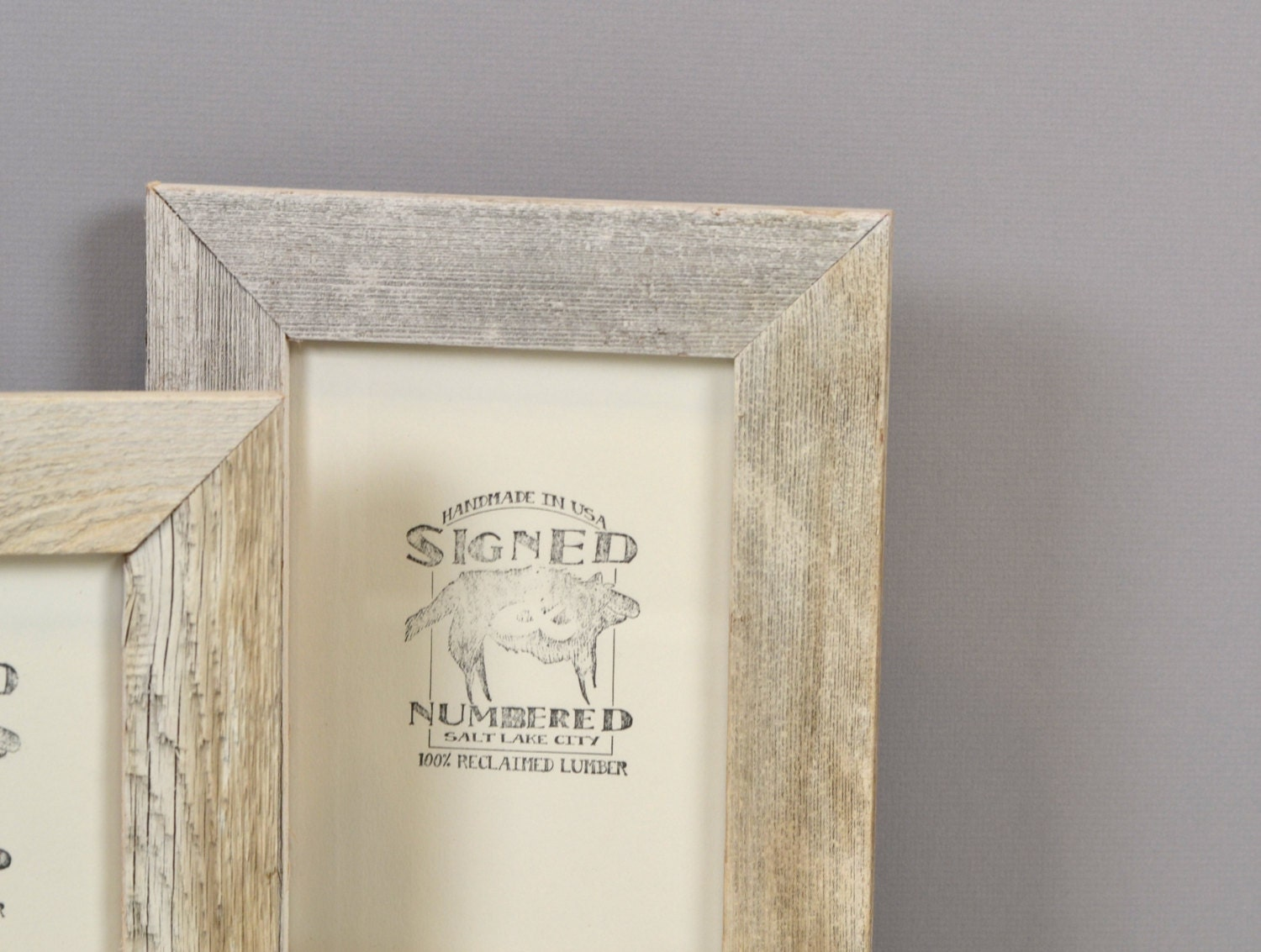 Rustic White Wash Reclaimed Cedar Picture Frame