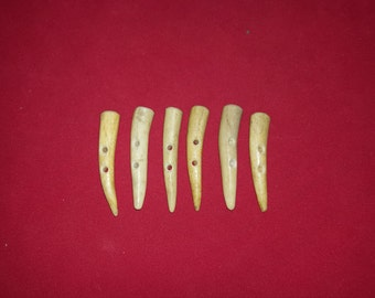 6 button toggle deer antler lot 57