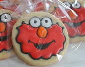 12 CUSTOM COOKIES - adorable monster Elmo
