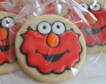 12 CUSTOM COOKIES - adorable monster Elmo
