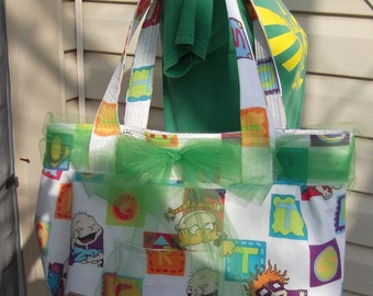 Rugrats  X-Large Tote / Bucket  Bag   Nickelodeon    Beach Bag  Diaper Bag