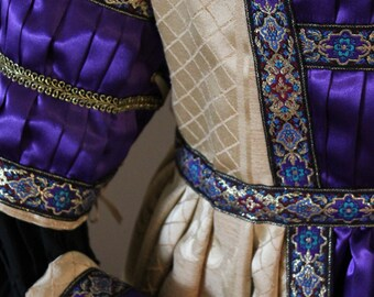"Bust 40"" Carnival Gown Borgia Lucrezia Italian Gold Mardi Gras Dress Ever After Renaissance Medieval Borgias"