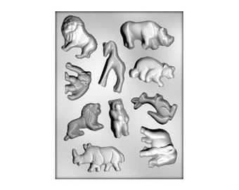 Zoo Animal Chocolate Mold, Animal Candy Mold, Safari Animal Chocolate Mold, 1st Birthday Party