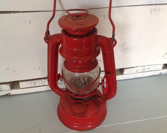 Vintage Winged Wheel Lantern ~ Red  lantern Small ~ Oil Lamp ~ Lantern no. 350 ~ Home Decor ~ Boys Room ~ Farmhouse Decor ~ Collectible