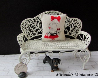 Dollhouse Miniature Olivia the Pig pillow