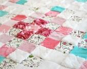 Baby Crib Blanket, crib quilt, baby gift