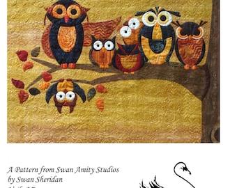 Branch Diversity Owl Family Applique Swan Amity Studios Quilt Pattern