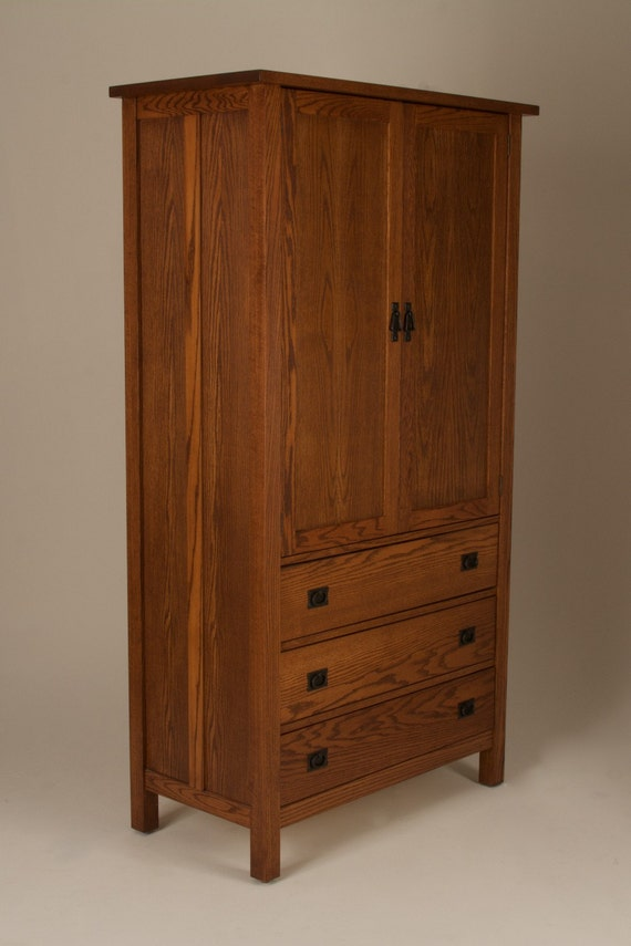 Mission Arts Amp Crafts Stickley Style Wardrobe Armoire