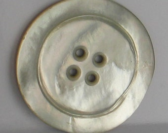 Vintage 36mm Mother of Pearl Button