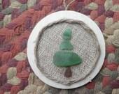 One Tree Ornament Lake Erie Beach Glass