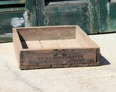 Vintage Rustic Ammunition Crate / Industrial Storage / Winchester Western Cartridge Co. Crate