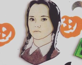 Wednesday Addams brooch Addams Family Halloween