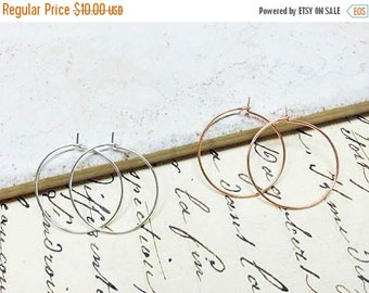 """SALE Silver Hoop Earrings / Small 1 Inch Hoops / Simple and Modern Hoops / Minimalist Jewelry / 1""""  Hoop Earrings"""