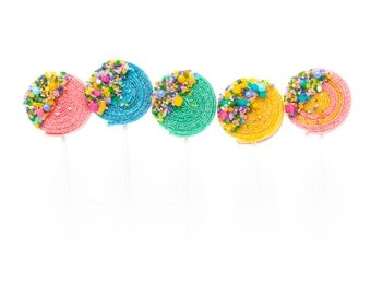 10 Birthday Cake Candyfetti™ Sour Lolli's