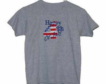 4th of July Embroidered t-shirt for children, women and men.