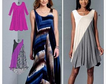 Pullover Swirl Dress Pattern, Loose Fit Pullover Dress Pattern, McCall's Sewing Pattern 7383