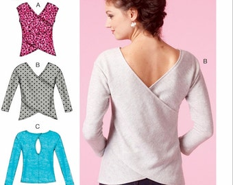 Pullover Tops Pattern, Stretch Knit Tops Pattern, McCall's Sewing Pattern 7127