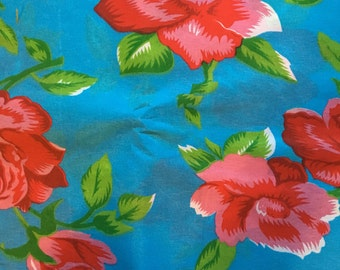 Floral Mexican Fabric Pattern Blue