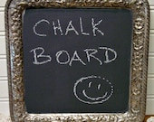 Silverplate  Chalkboard - Wall Art - Silver Chalk Board - Farmouse Chic - Home Decor - Gorham Silver
