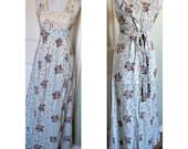 Vintage 70s boho hippie maxi dress