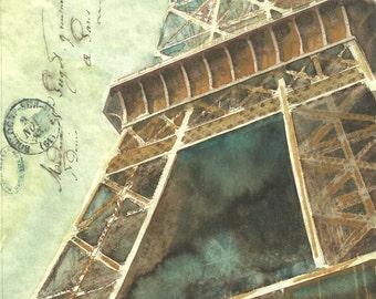 """La Tour Eiffel   8"""" x 8"""" Print"""