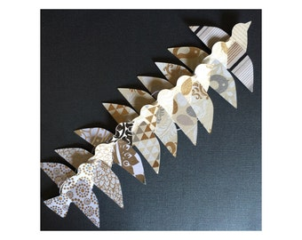 Paper Bird Garland - GOLD & SILVER - Wedding Garland - Party Garland - Bird Garland - Wedding Decor - Home Decor - Party Decor - Nursery