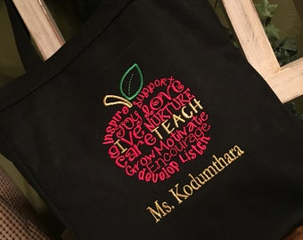I Teach Teacher Personalized Tote Bag