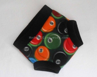 Extra Large Fleece Cloth Soaker Diaper/Underpants Cover in Billiards Ready to Ship, Green Black Red Orange Blue Yellow Vegan XL