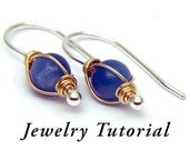 Tornado Wrapped Earrings Jewelry Tutorial