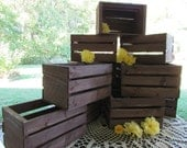 Wooden Crates centerpieces Rustic Wedding reception flower planter box vases barn country diy decorations cottage chic shabby