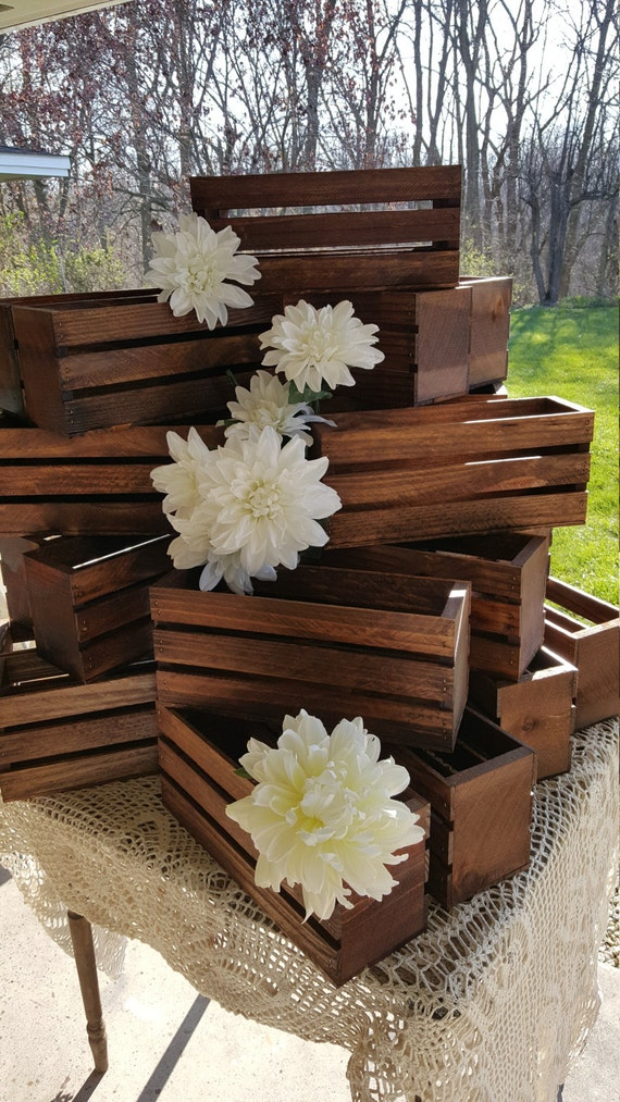 25 Wedding Centerpiece Flower Planter Box Wooden Crates