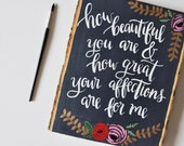 How beautiful you are | Wood Slice