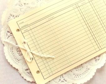 Vintage Ledger Pages / 5 Pieces / Vintage Ephemera / Accounting / Ledger Pages / Office Ephemera