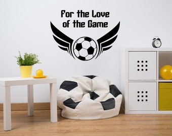 Soccer Wall Decal, Sports Wall Decal, Soccer Ball Wall Decal, Decor for Kids, Sports Dorm Decor, Soccer Dorm Decor, Soccer Nursery Decal