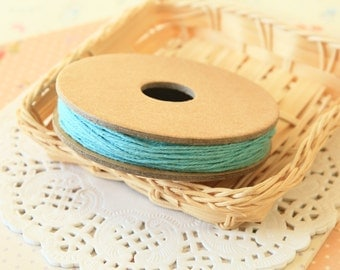 Solid TEAL Blue Divine Twine 20yd Reel 4-ply cotton bakers twine string