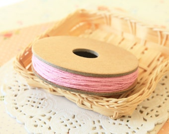 Solid Light PINK Divine Twine 20yd Reel 4-ply cotton bakers twine string