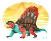 Dimetrodon- Fine Art Prehistoric Print