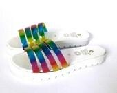 Slides Jelly Chunky Sandals (Handmade to Order)