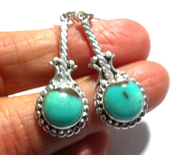 real turquoise earrings turquoise earrings genuine turquoise earrings by 110