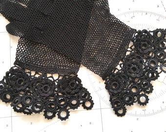 Antique Black Lace Fishnet Gloves Victorian Accessories ON SALE