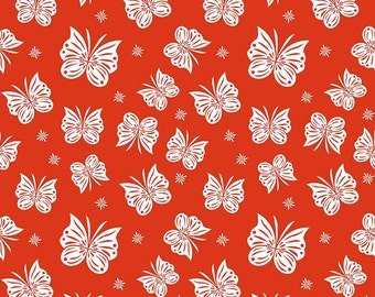 Flutter Coral in Double Gauze Fabric by Riley Blake Designs  - you choose the cut