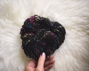 Celestial // handspun art yarn for weaving, single ply, 58 yards, 1 oz