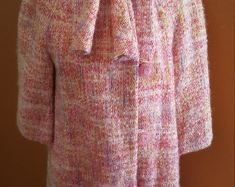Amanzing Vintage Pink, Yellow and Blue Coat!