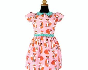 SALE!!Girl's Retro Pink Foxy Dress
