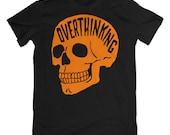 Overthinking T-Shirt. Anxiety Tee. Orange Edition.
