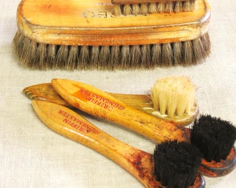 Vintage Shoe Brush Collection, Brushes, Polish Brush, Footwear Care, Group, Art Supplies, Craft Supplies, Supplies, Set