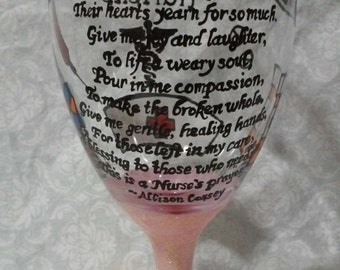 Nurse's Prayer Glass